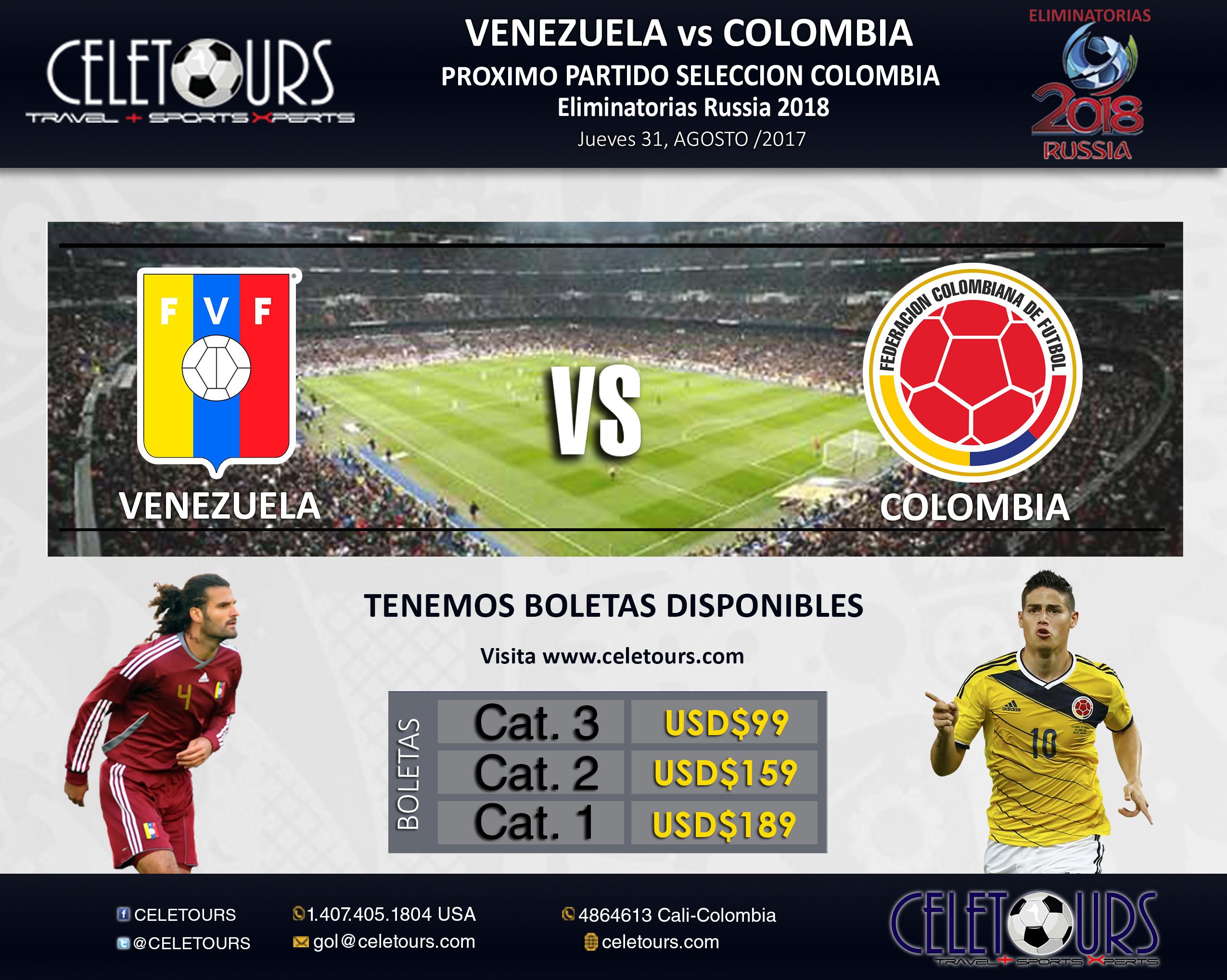VENEZUELA VS COLOMBIA 31 de agosto 2017