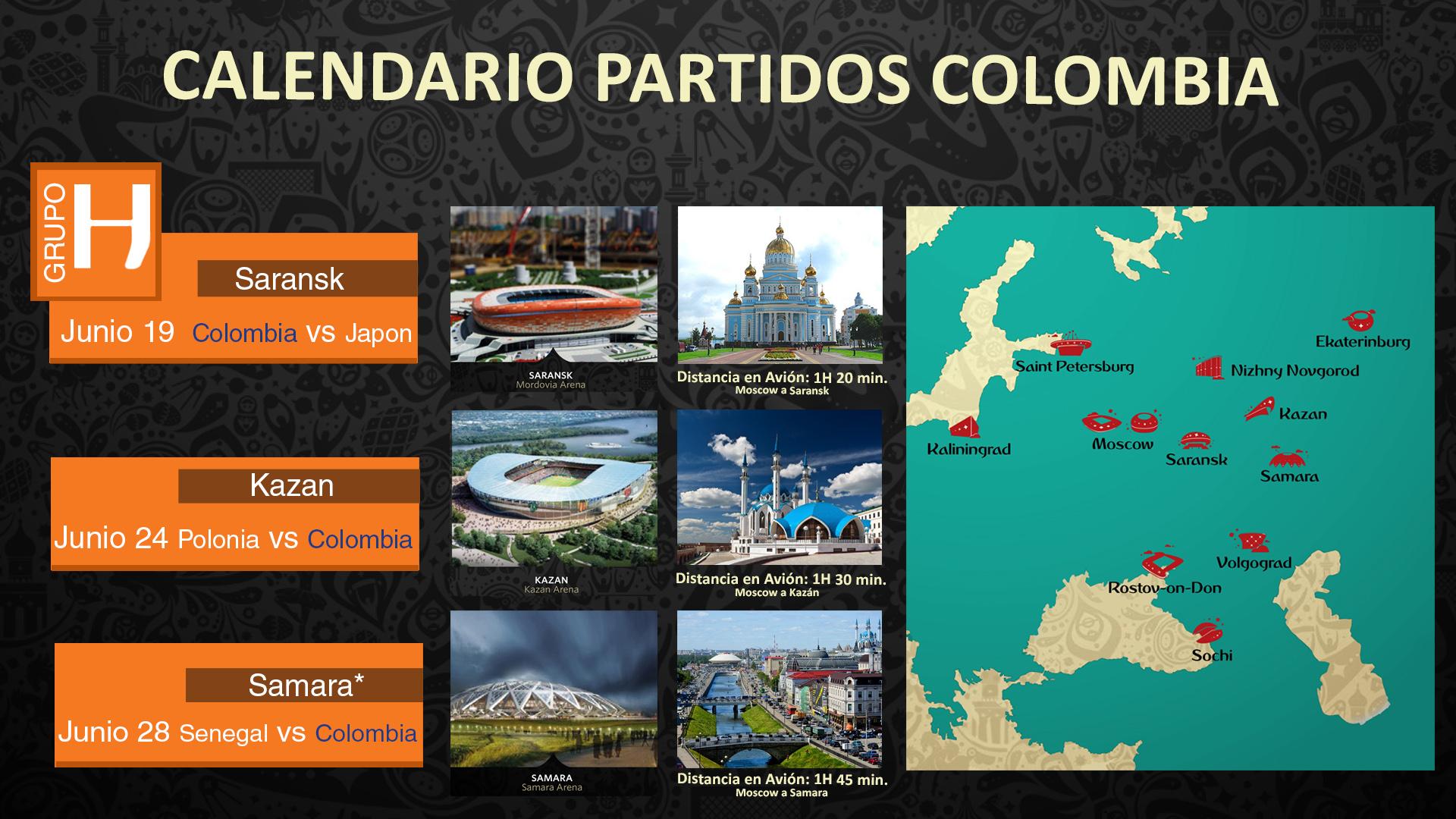 Colombia ciudades & oponentes
